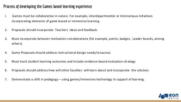 Game Based Learning Lesson Plans
