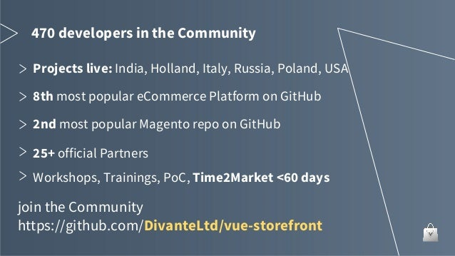 Game changer for e-commerce - Vue Storefront - open source pwa