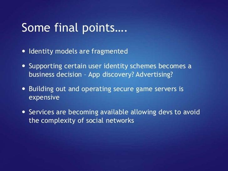 Game connection presentation