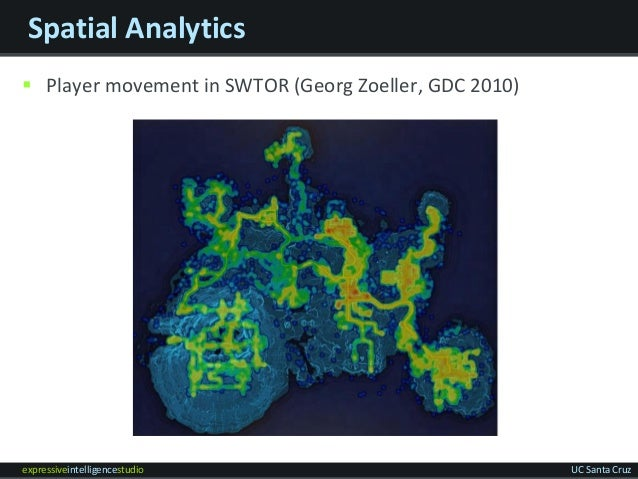 expressiveintelligencestudio UC Santa Cruz Spatial Analytics  Player movement in SWTOR (Georg Zoeller, GDC 2010)