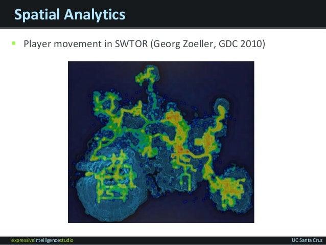 expressiveintelligencestudio UC Santa Cruz Spatial Analytics  Player movement in SWTOR (Georg Zoeller, GDC 2010)