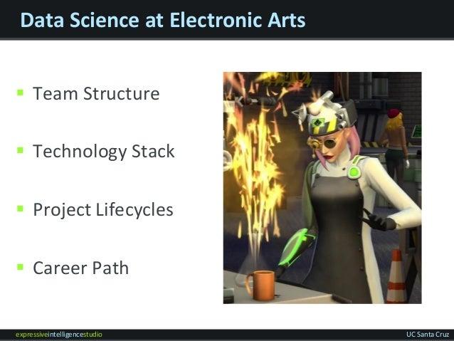 expressiveintelligencestudio UC Santa Cruz Data Science at Electronic Arts  Team Structure  Technology Stack  Project L...