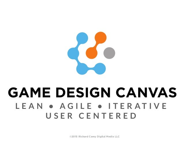 GAME DESIGN CANVAS L E A N • A G I L E • I T E R A T I V E U S E R C E N T E R E D ©2015 Richard Carey Digital Media LLC
