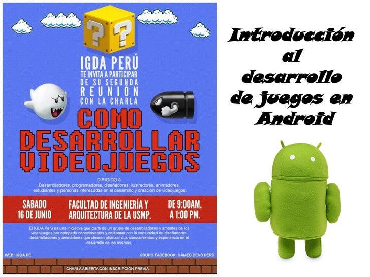 Introducción     al desarrollode juegos en   Android