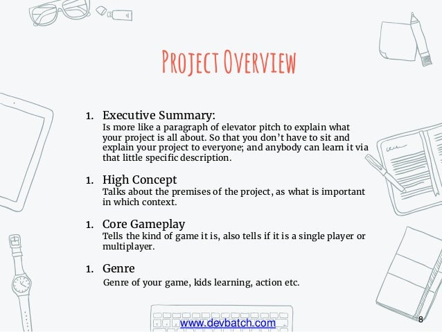 Game Design Document Step By Step Guide - High concept document game design