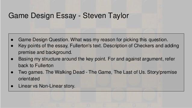 short essay on video games