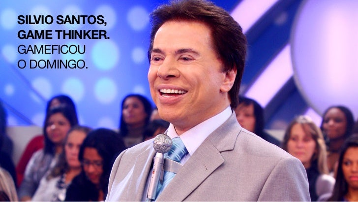 SILVIO SANTOS,GAME THINKER.GAMEFICOUO DOMINGO.