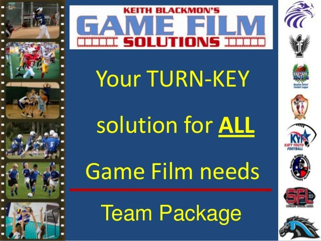 Your TURN-KEY solution for ALL Game Film needs Team Package