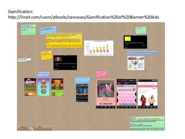 Gamification:http://linoit.com/users/pfasolo/canvases/Gamification%20of%20Banner%20Ads