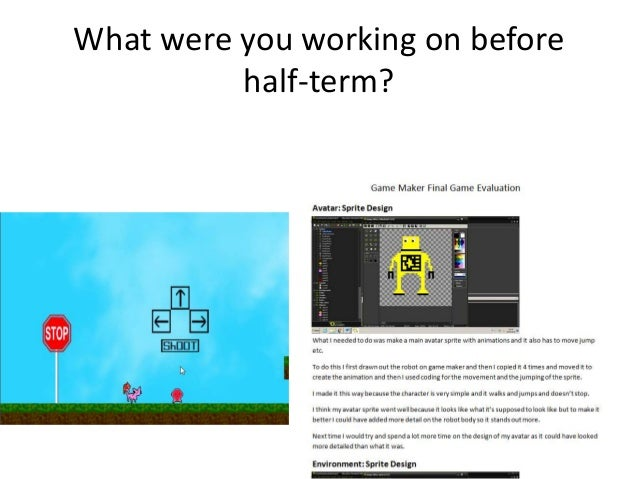 Gamemaker - adding to your game proposal