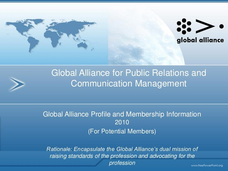 Global Alliance for Public Relations and       Communication Management   Global Alliance Profile and Membership Informati...
