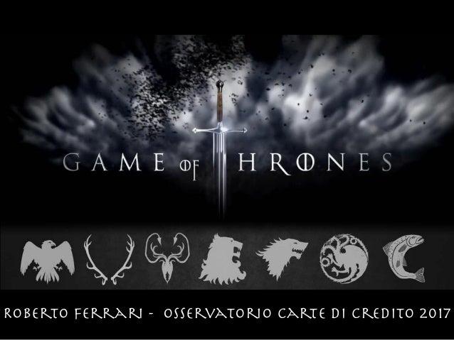 Roberto Ferrari - Osservatorio Carte di Credito 2017