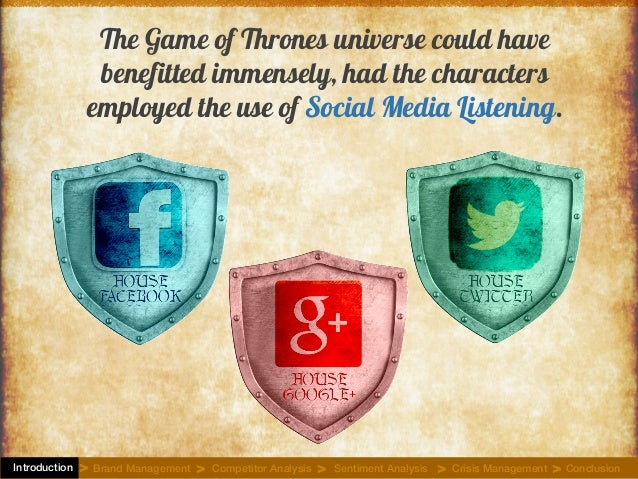 The Game of Thrones universe could have benefitted immensely, had the characters employed the use of Social Media Listenin...