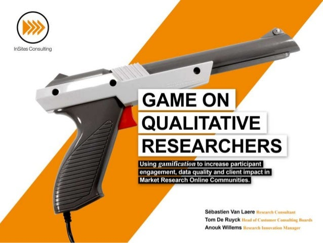 We believe gamification can be applied in 3 different phases of the  research process; (1) during data collection, (2) dur...