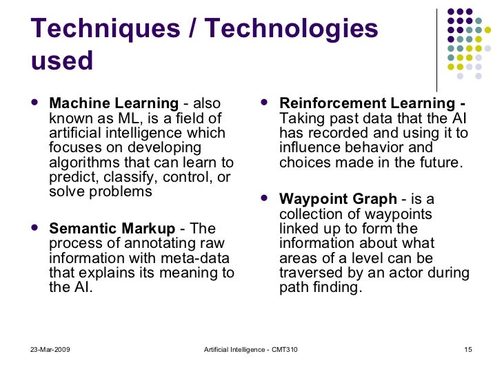 Techniques / Technologies used <ul><li>Machine Learning  - also known as ML, is a field of artificial intelligence which f...