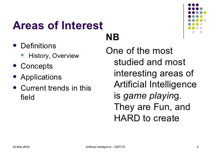 Areas of Interest <ul><li>Definitions </li></ul><ul><ul><li>History, Overview </li></ul></ul><ul><li>Concepts </li></ul><u...