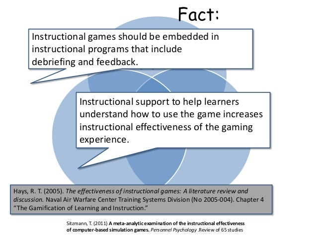 Engagement PedagogyGame Educational Simulation Instructional games should be embedded in instructional programs that inclu...