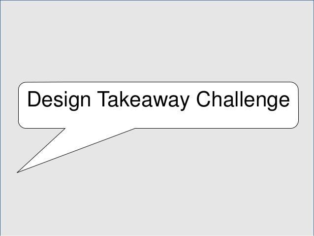 Design Takeaway Challenge
