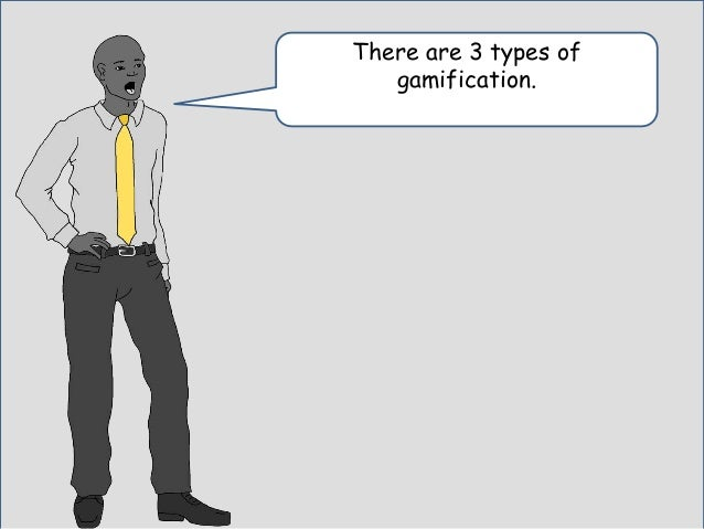 He grabbed his typewriter and made some notes to explain to me the difference between the two types of gamification.