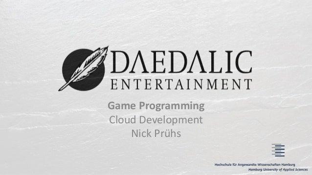 Game Programming Cloud Development Nick Prühs