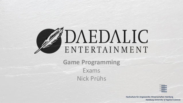 Game Programming Exams Nick Prühs