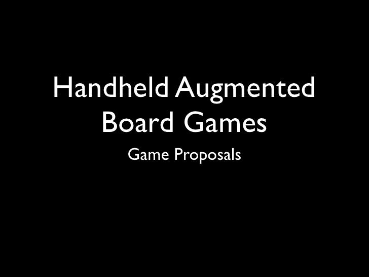 Game proposals