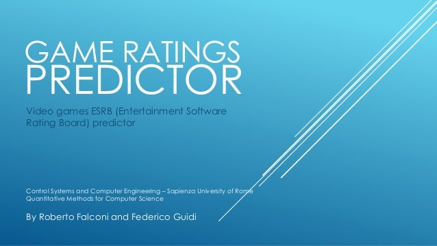 Game Ratings Predictor - machine learning software to