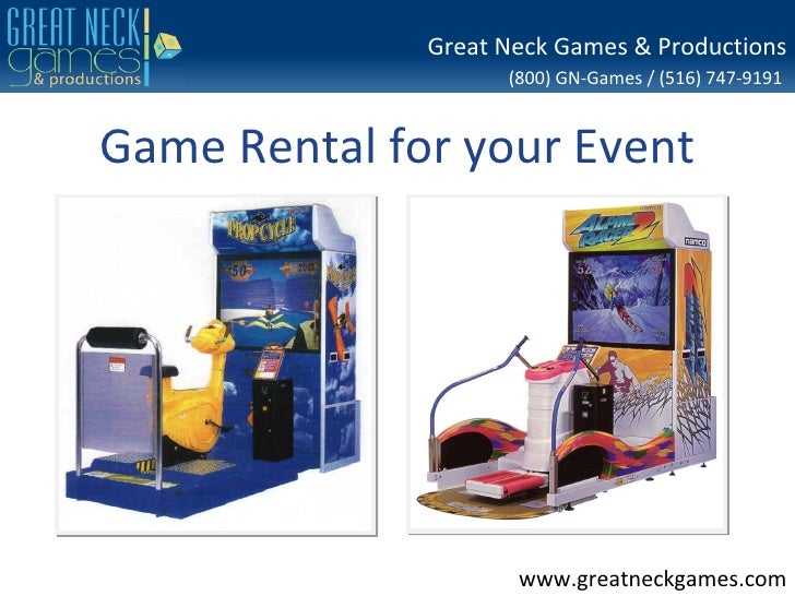 Great Neck Games & Productions                    (800) GN-Games / (516) 747-9191Game Rental for your Event               ...