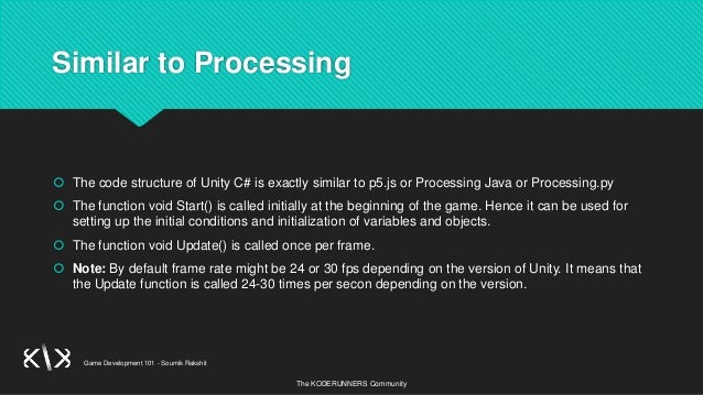 Game Development Session - 3   Introduction to Unity