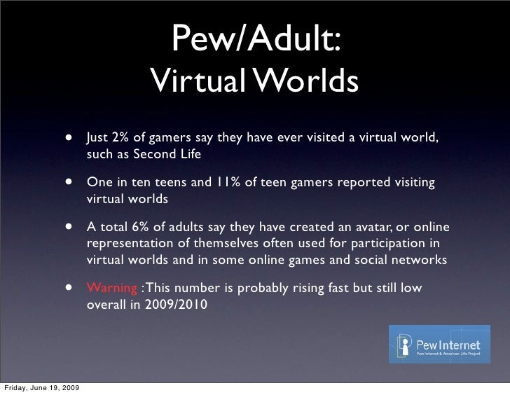 ... 32. Pew/Adult: Virtual Worlds ...