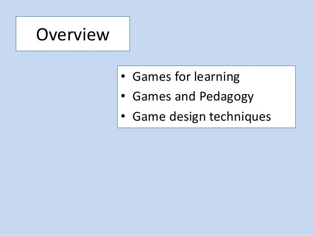 Games and Learning in Higher Education Slide 2