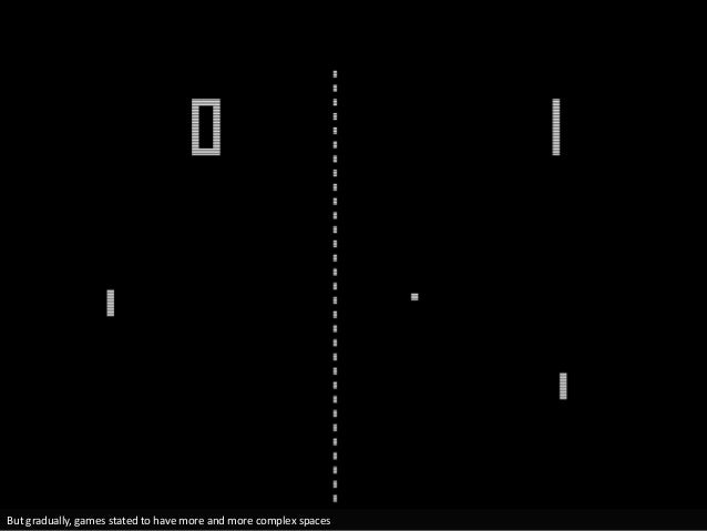 But gradually, games stated to have more and more complex spaces