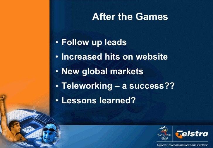<ul><li>Follow up leads </li></ul><ul><li>Increased hits on website </li></ul><ul><li>New global markets </li></ul><ul><li...