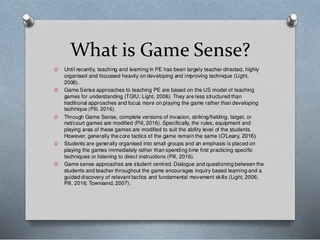 how to teach game sense