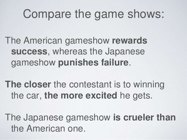Game show lesson