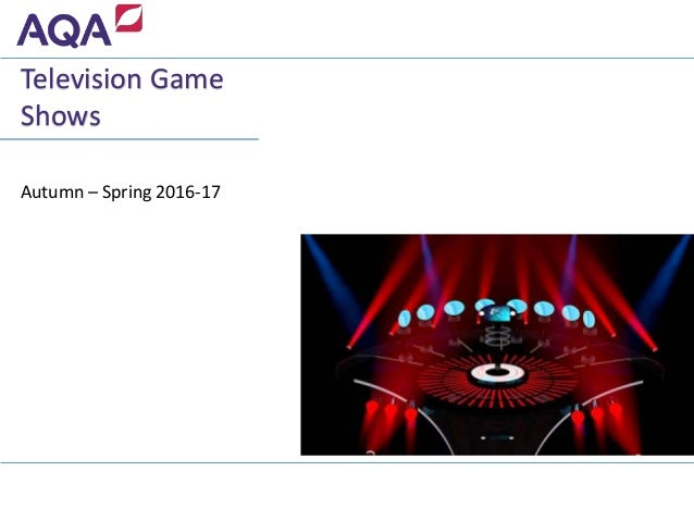 Autumn – Spring 2016-17 Television Game Shows