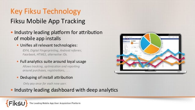 Key  Fiksu  Technology   Fiksu  Mobile  App  Tracking       •  Industry  leading  pla?orm  for  ...