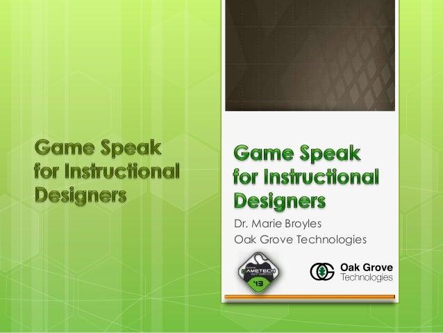 Dr. Marie Broyles Oak Grove Technologies