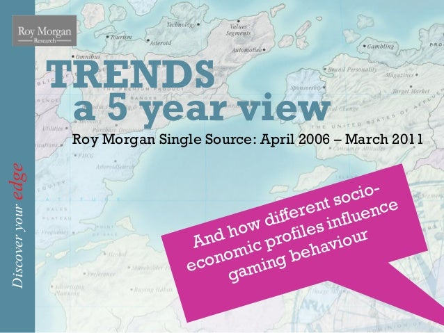 TRENDS                      a 5 year view                      Roy Morgan Single Source: April 2006 – March 2011Discover y...