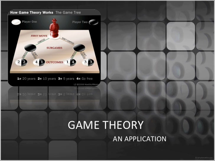 GAME THEORY AN APPLICATION
