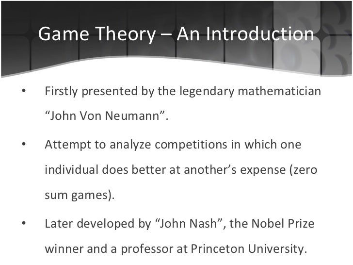 Game theory Slide 3