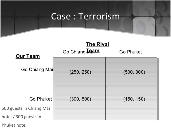 Case : Terrorism 500 guests in Chiang Mai hotel / 300 guests in Phuket hotel Go Chiang Mai   Go Phuket The Rival Team Our ...