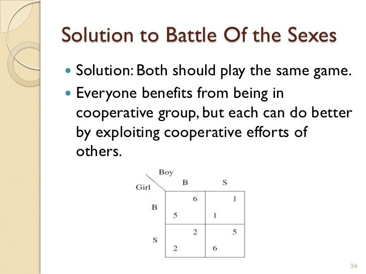 Game theory battle of the sexes
