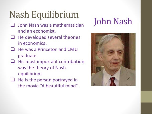john nash dissertation game theory The work of john nash in game theory nobel seminar, december 8, 1994 (the document that follows is edited version of a.