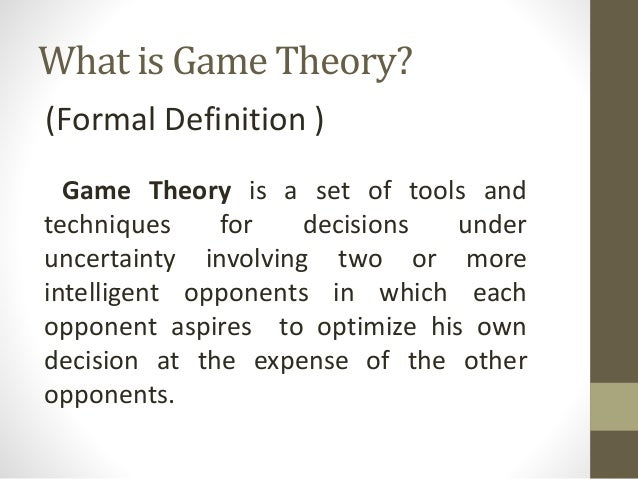 game theory term insurance What game theory can teach us  it turns out the dilemma facing democrats reflects a classic model in game theory,  but short-term calculus.