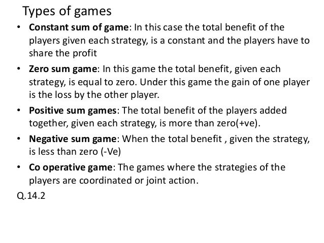 Game Theory Games.docx - Classification of Game Theory ...