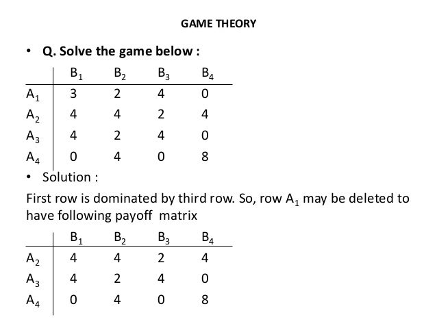 game theory q