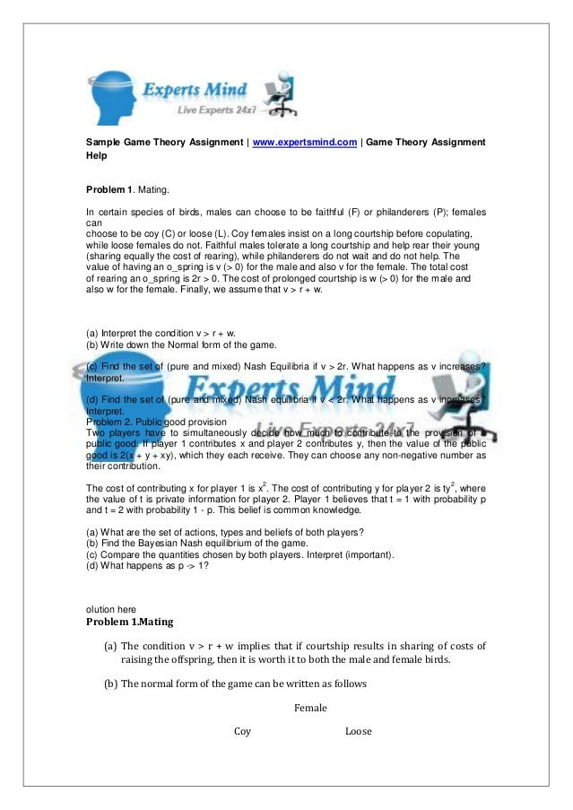 EEB309 Essay Writing Assignment