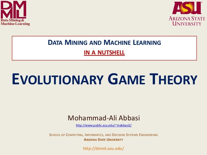 DATA MINING AND MACHINE LEARNING                                                                 IN A NUTSHELLEVOLUTIONARY...