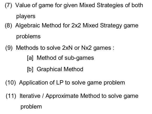 graphical method solving game theory problems
